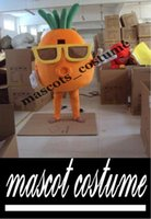 athletic glasses - Mascot Costume Adult Character Costume mascot As fashion freeshipping Wear glasses of carrots