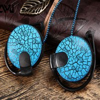 android running - New Hot fashion ear hook mobile phone headset with wheat ears hanging running general android mp3 stereo headphones with retail package