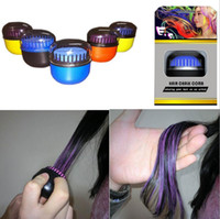 Wholesale 2016 new and hot sale hair color chalk comb egg round shape design temporary one time hair dye power