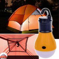 Wholesale Camping Outdoor Light LED Portable Tent Umbrella Night Lamp Hiking Lantern V8 Card Button Lamp Bulb