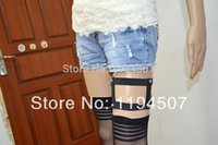 Wholesale Fashion Sock Stra pless Overknee Stockings Garters Harness Pair Rose with Heart