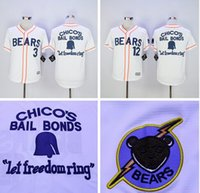 bears throwbacks - Bad News BEARS Movie Button Down Jersey Stitched Bad news BEARS Chicos Bail Bonds Retro Throwback Baseball Jersey White