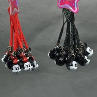 Wholesale EMS Mickey Minnie Mouse Cell Phone Strap JINGLE BELLS Dangle Charms New Dolls Accessories