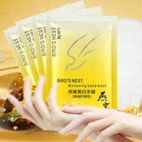 Wholesale Bird s Nest Whitening Skincare Hand Mask Moisturizing Exfoliating Remove Wrinkle Beauty Skin Care Gloves Super Smoothing