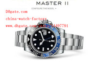 Wholesale Luxury High Quality Asia Mechanical Movement Watch Blue Luminescent mm GMT Ceramic Bezel blnr Automatic Mens Watches