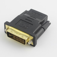 Wholesale New DVI Male to HDMI Female Converter HDMI to DVI adapter Support P for HDTV LCD Dropshipping