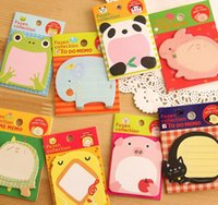 Wholesale 2016 Cute Animals Self Adhesive Memo Pad Notepad Sticky Notes Bookmark Marker Home Office School