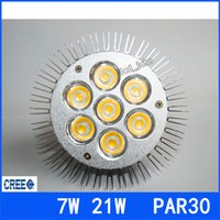 Wholesale Warranty Years DHL E27 E26 Led Spotlights PAR30 W W LED Bulbs Lamp CREE Chip Warm Cool White AC V V UL DLC