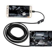 Wholesale 5 mm LEDs P USB Laptop Android Endoscope IP67 Waterproof Inspection With M Cable CD Driver Borescope Vedio Camera