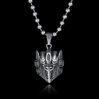 autobots logo - Factory Direct Hot Movie Stainless Steel jewelry Transformers Necklace Autobots Head Portrait Logo Pendant Necklace For Gift