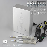 Cheap High Power H3 6000K White CREE Car R3 LED HeadLight Bulb Kit 40W 4800LM plug and play daytime running lights driving lamp for refit cool car