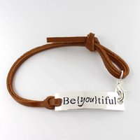 Bohemian anniversary quotes - Eosmer stamped inspiring bracelet Be you tiful encourage quote bracelet Inspiring gift bracelet