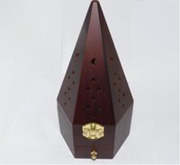 Wholesale Hot sale cm Hexagon with drawers Wooden smoked incense burner