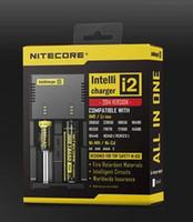 Wholesale Battery Charger Nitecore I2 Digital charger Universal Nitecore i2 Charger VS Nitecore i2 D2 D4 UM10 UM20 Good quality