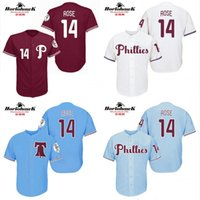 base for sale - Philadelphia Phillies Pete Rose cool base New Design throwback Baseball Jersey S XL For Sale stitched