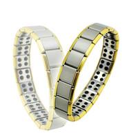 Wholesale NMM Health Bracelet Gold Anti Fatigue Germanium Titanium Bracelet Power Bangle For MEN WOMEN Health Reduce muscle tension