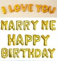 aluminum table sets - 2016 New Birthday Balloon Decoration Letter Balloon Wedding Love Aluminum FilmLetter Balloon Party Decoration Party Balloons