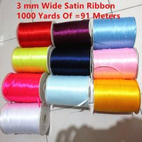 Wholesale 1 mm Nylon Yarn DIY Handmade Jewelry Materials Clothing Accessories Wedding Gift Packaging Belt