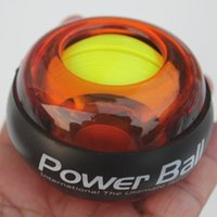 Wholesale 2016 New Power Wrists Force Ball Gyroscope LED Lighting Wrist Strengthener Power Force Ball Arm Exercise Power Handball Exercise Ball