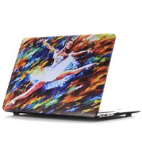 ballet drawings - Ballet Art Printing Hard Case For Apple Macbook Air Pro Retina Bag Matte Oil Drawing Texture Cover Shell Black