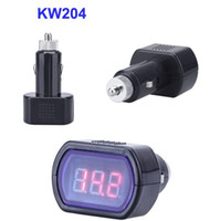 best voltage detector - Best quality New Arrival KW204 Mini Digital LED Car Vehicle System Detector Voltmeter Voltage Meter