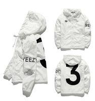 Cheap YEEZY3 Jacket Men KANYE Hip Hop Windbreaker YEEZUS TOUR 3 Jackets Men Women Streetwear Fashion Hip Hop Outerwear uniform coat