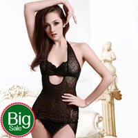 adult network - 2016 Women Sexy Lingerie Dress See through dress Bikini lattice network Sexy black a complete set sexy underwear adult erotica products