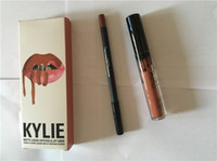 Wholesale Newest Kylie colors Liquid Lipstick Kit Matte Lip Gloss Kit by Kylie Jenner Lipstick with Lip Liner Pencil Red Velvet Velvetine