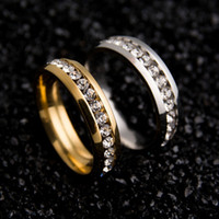 Wholesale Never Fade k l Stainless Steel Ring Titanium Steel Engagement Wedding Rings For Women Men Jewelry