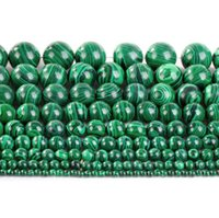 Wholesale Multi Sized A strand quot Green Genuine Malachite Round Spacer Beads Loose Beads For DIY Jewery Making Bracelets