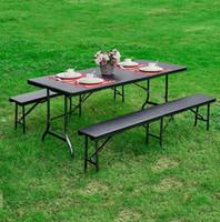 bench car - IKAYAA FT Long Portable Folding garden Bench Outdoor Garden Chair H16643