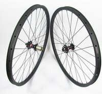 Wholesale 26erx30mm width carbon wheelset hookless mm depth front M15 thru rear mm X12 SUPER LIGHT MTB XC carbon wheels