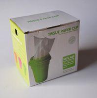 Wholesale Brand New Tissue Paper Cup Box Case Cover Holder Storage Box Home Desk Decor Cup Shape Paper Pot Toilet Fashionable Colors