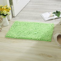 Wholesale New Fashion chenille Fluffy Rugs Anti Skid Shaggy Area Home Bedroom Carpet Floor Mat