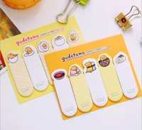 Wholesale 2016 Cute Cartoon Gudetama Lazy Egg Self Adhesive Memo Pad Sticky Notes Post It Bookmark School Office Supply