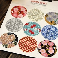 Wholesale Cute Elegant BBIDDAK Japanese Traditional Printing Universal Stickers Sealing Stickers Photo Sticker Decorative Stickers Diary Cup Sticker