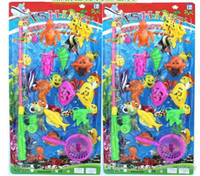 Wholesale New Magnetic Fishing Toy Rod Model Fish water toys Kid Children Baby Bath Time Fun Game
