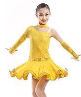 ballet school kids - School Performance Child Children Ballet Dance Dress For Girls Lace Samba Dress Dancing Dress Girl Dancewear Kid Latin Costume