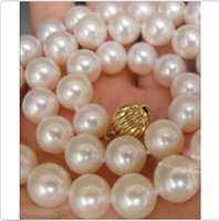 aa twist - 9 MM Natural AA WHITE Akoya PEARLS NECKLACE quot