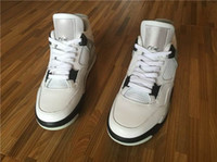 air carbon - With Box Carbon Fiber Air Retro IV OG White Black Cement Sneaker Men s Sports Basketball Shoes s running shoes