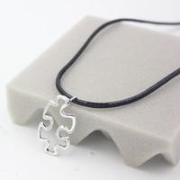autism puzzle necklace - Newest Autism Puzzle Jewelry Awareness Puzzle Autism Pendant Necklace Autism Awareness Gift Jewelry