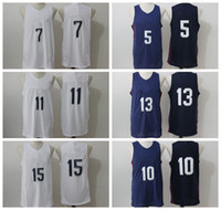 basket ball player - 2016 USA Dream Twelve Team Jerseys Basketball Shirts Uniforms Basket ball Sportswear With Player Name Team Logo Blue White