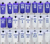 baseball wall - College Kentucky Wildcats John Wall Rajon Rondo Skal Labissiere Karl Karl Anthony Towns Purple jersey size small s xl