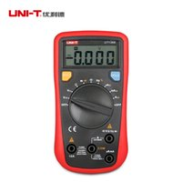 Wholesale UNI T UT136B LCD Digital Multimeter Tester AC DC Voltmeter Ammeter Automotive Data Hold Freq Duty Cycle Test Lead Proffesional