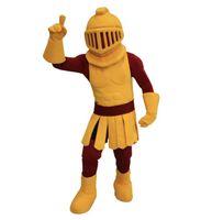 adult spartan costume - Professional Custom Dark Golden Knight Warrior Mascot Adult Costume Spartan Troi Fighter Mascotte Fancy Dress Kits For School