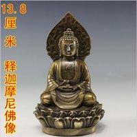 Wholesale Tantric Buddhism Sakyamuni Buddha Sakyamuni copper Buddha statue antique do the old antique ornaments