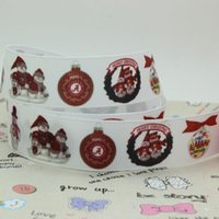 alabama apparel - 7 quot mm Christmas Ball Alabama Football Sport Team Printed Grosgrain Ribbons Apparel Party Event DIY Crafts Y A2