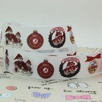 alabama football apparel - 7 quot mm Christmas Ball Alabama Football Sport Team Printed Grosgrain Ribbons Apparel Party Event DIY Crafts Y A2
