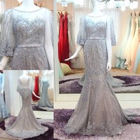 Wholesale 2016 Elegant But Cheap Mother of the Bride Dresses for Weddings Plus Size Half Sleeves Beaded In Stock Mother off Bride Dresses
