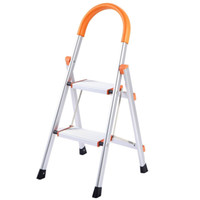 aluminum step stools - 330 lbs Load Capacity Folding Step Non slip Aluminum Ladder Platform Stool